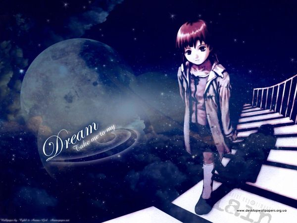Serial Experiments Lain wallpaper art