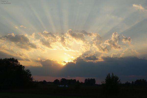 фотография заката в полях псковской области