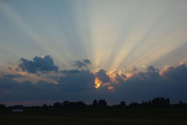 деревенский закат россия псковская область