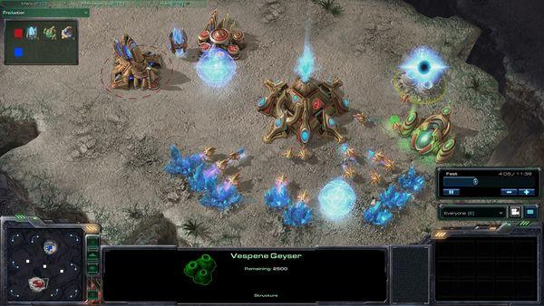 starcraft II бета rкадры скриншоты