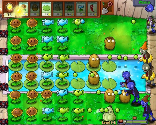 Plants vs Zombies скриншоты кадры