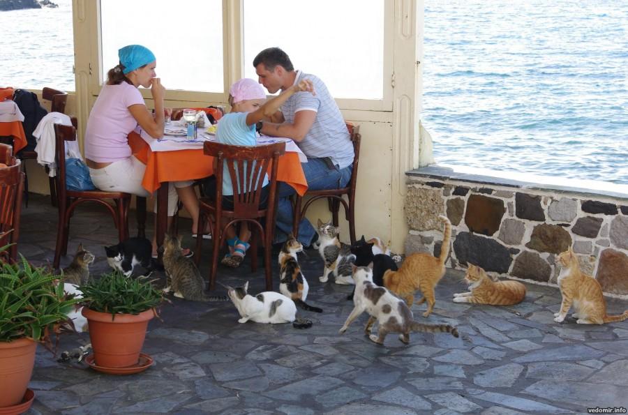 Греция, остров Нисирос, город Мандраки