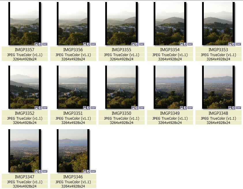 Фотографии для панорамы