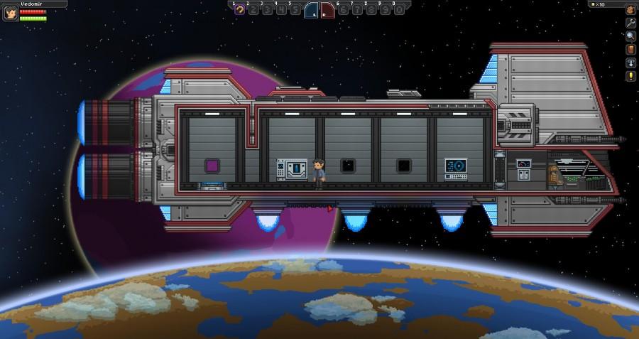 Начало путешествия. Пустой корабль на орбите неизведанной планеты.