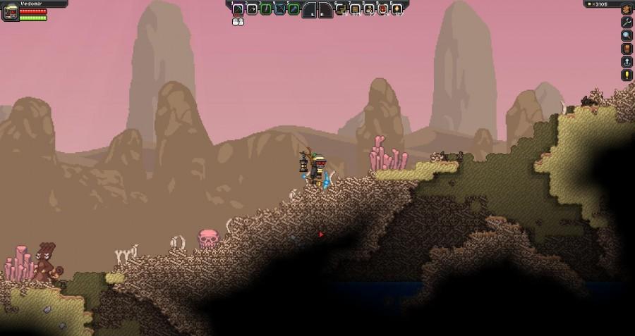 Пустынная планета с огромными залежами костей